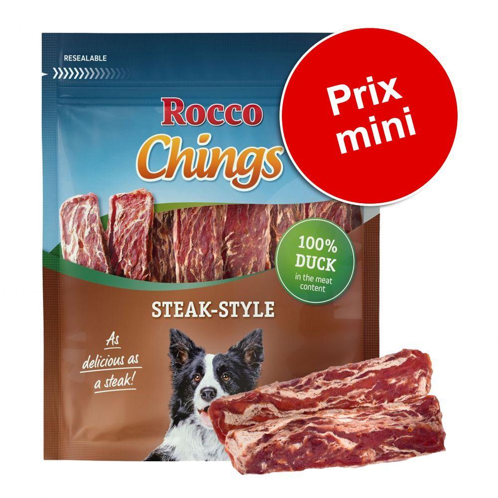12x200g Steak Style poulet Rocco Chings pour chien - Friandises pour Chien