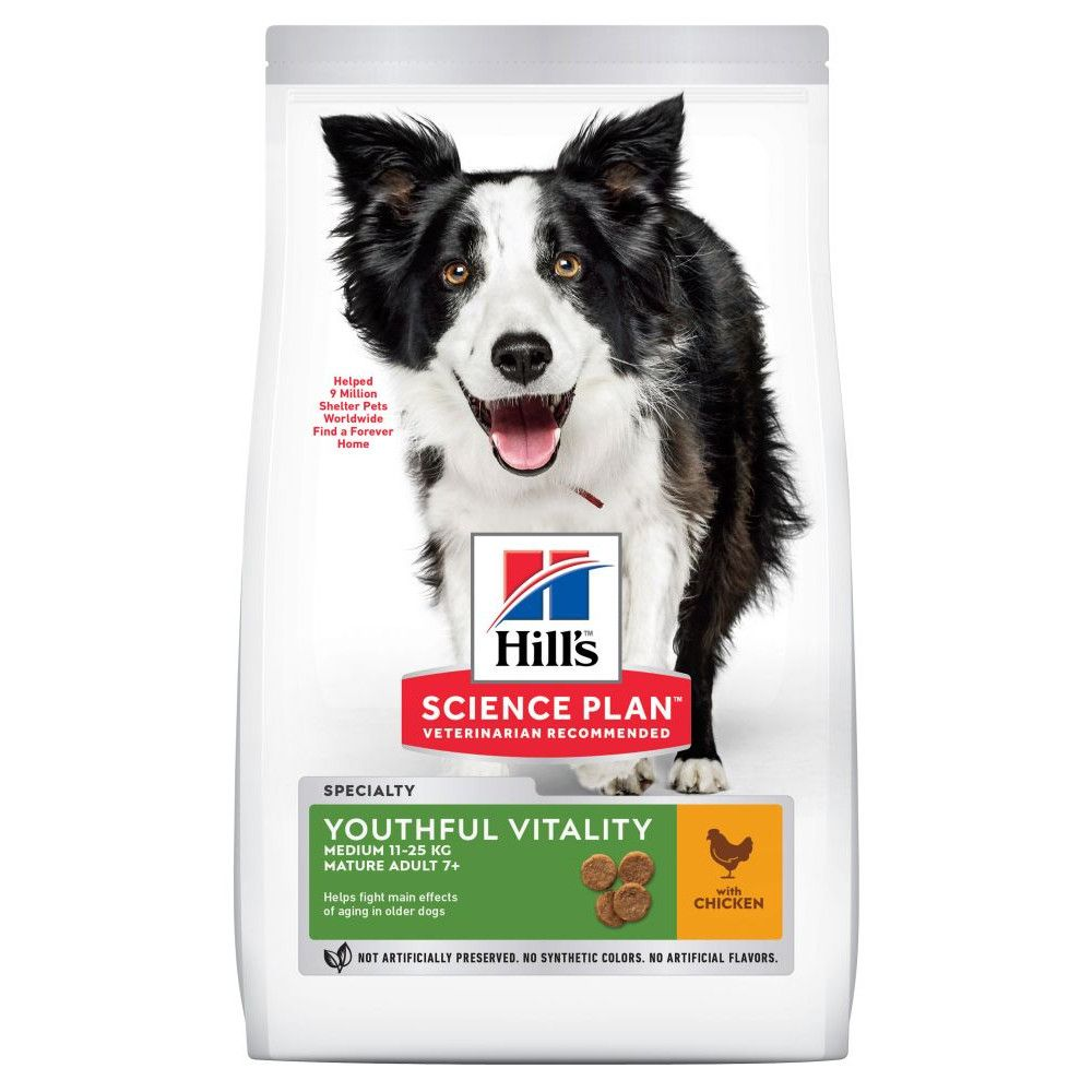 Chicken Medium Adult Youthful Vitality Hill's Science Plan Dry Dog Food
