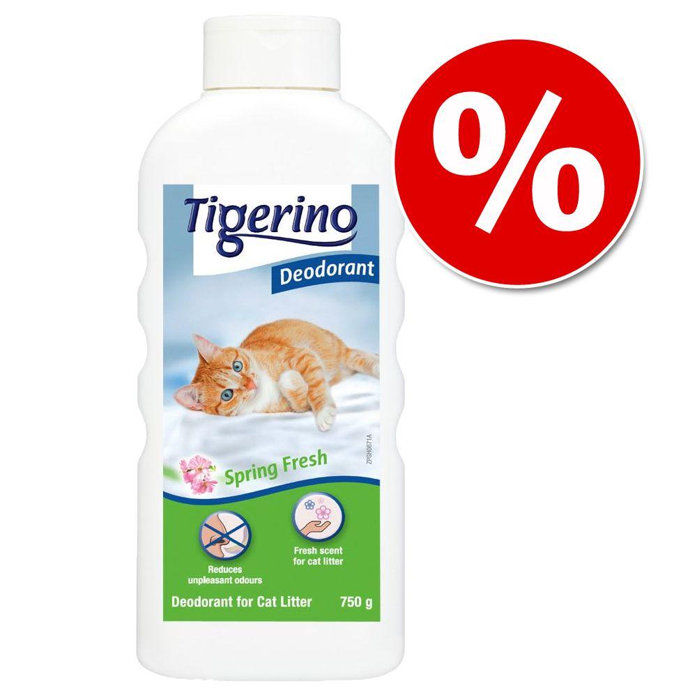 Odświeżacz do kuwet Tigerino w super cenie! - Zapach pudru dziecięcego, 750 g