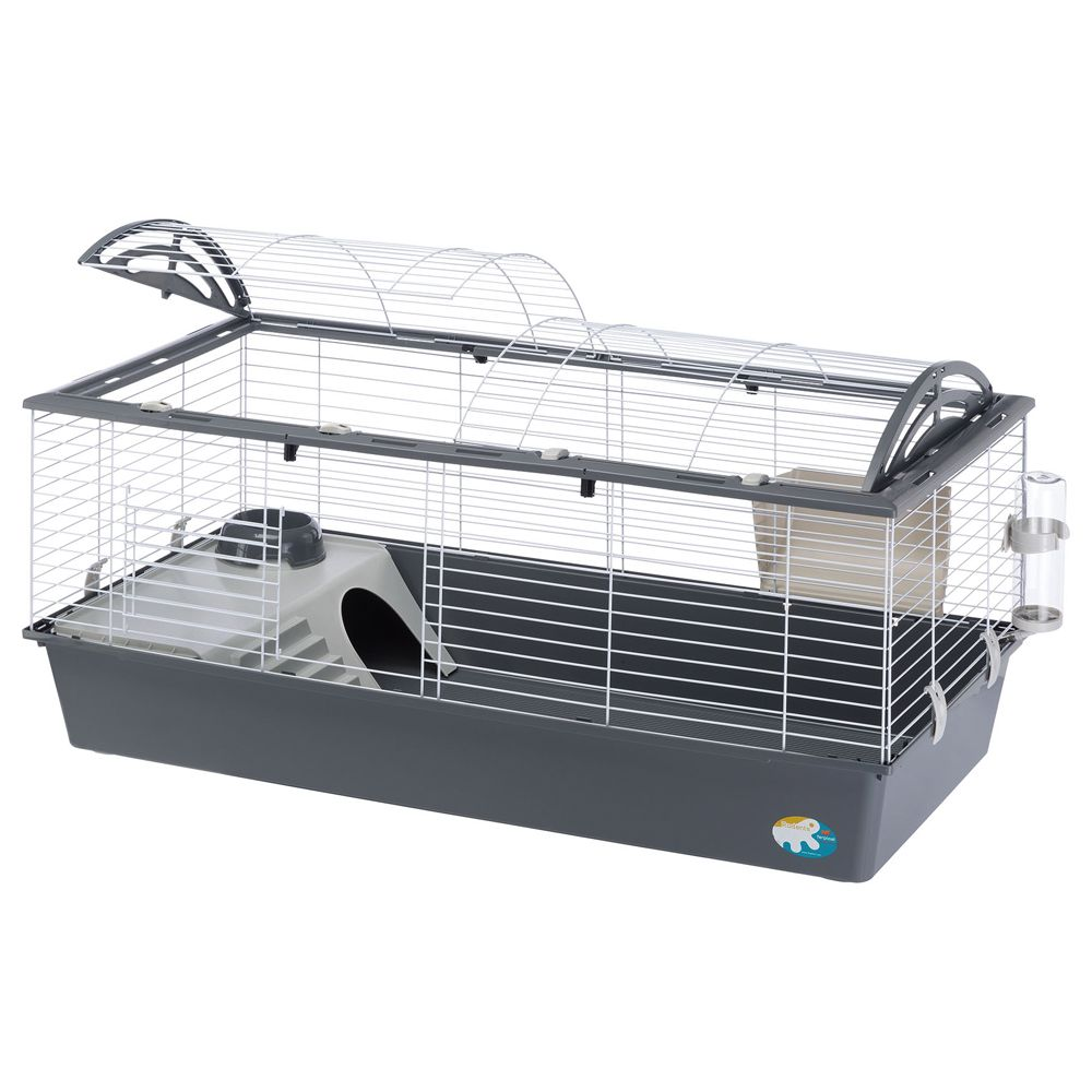 Ferplast Casita 120 Indoor Rabbit & Guinea Pig Cage Grey