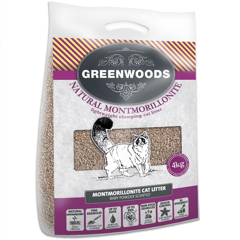 Greenwoods Light Weight Clumping Cat Litter - 10kg