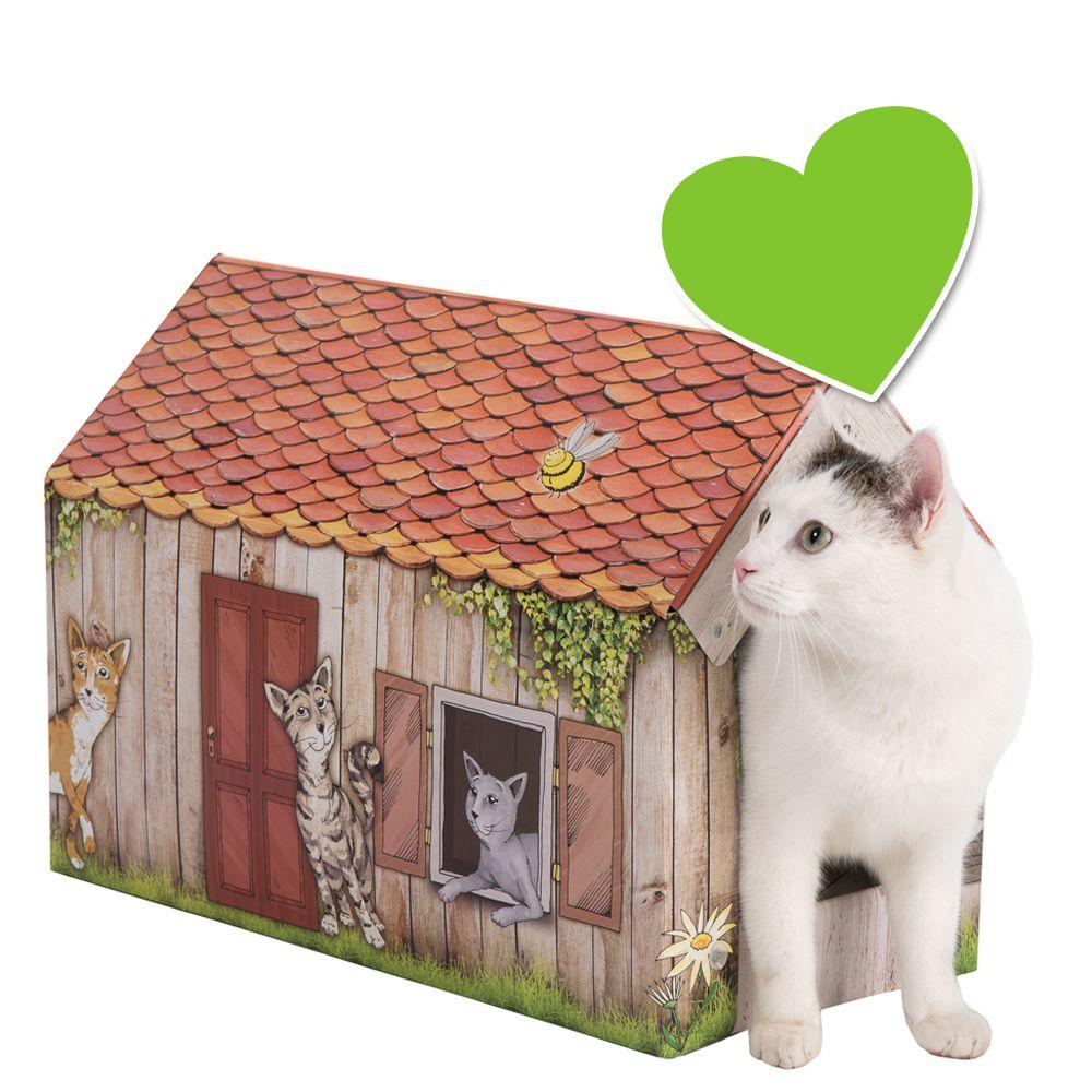 zoolove domek Home dla kota z matą do drapania - Dł. x szer. x wys.: 50 x 26 x 36 cm
