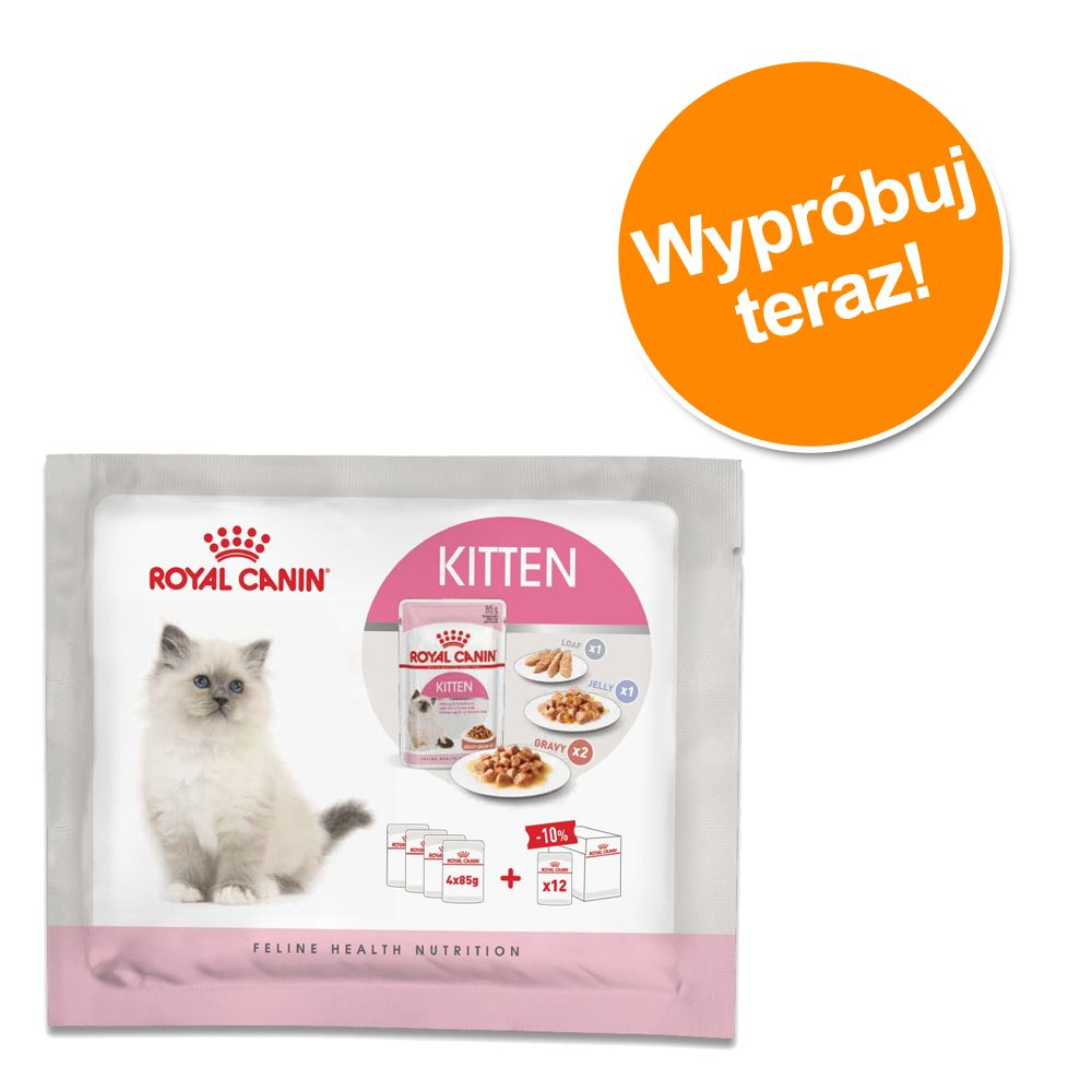 Mieszany pakiet próbny Royal Canin Kitten, 4 x 85 g - 4 x 85g (3 rodzaje karmy)