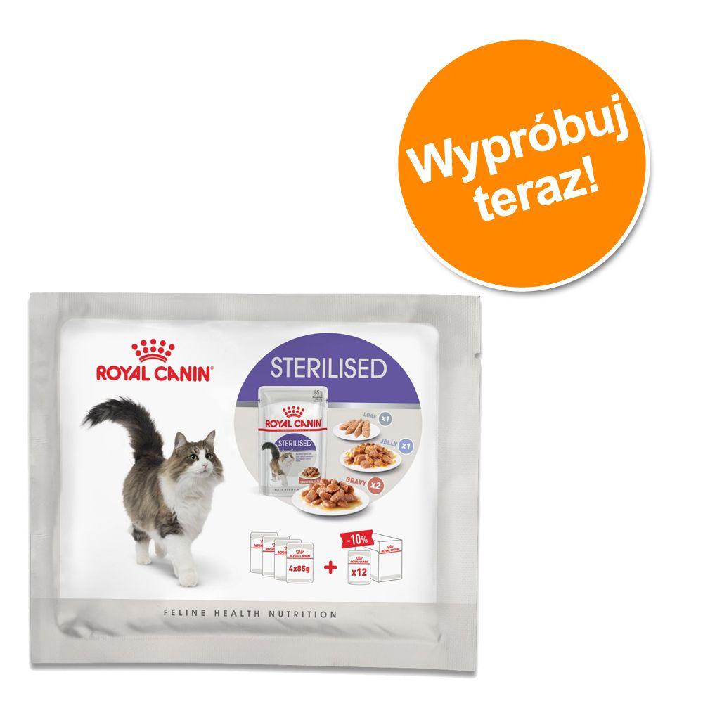 Mieszany pakiet próbny Royal Canin Sterilized, 4 x 85 g - 4 x 85g (3 rodzaje karmy)