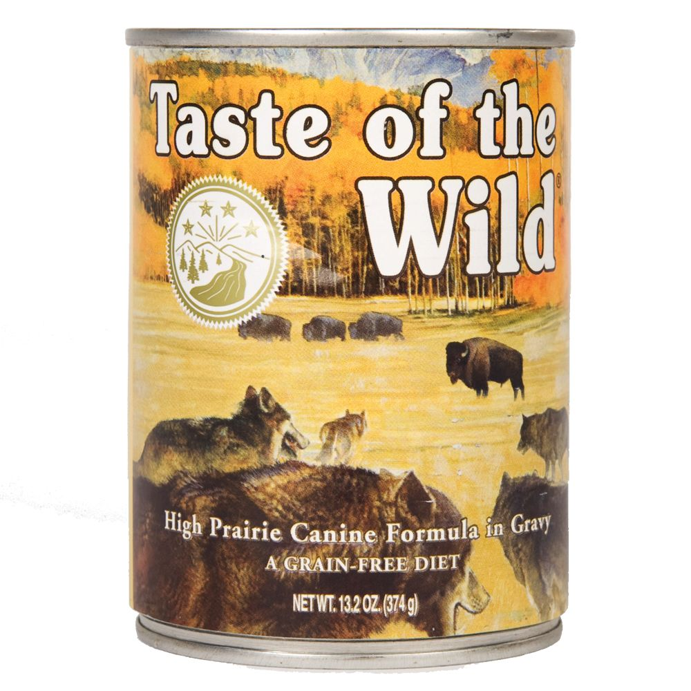 Taste of the Wild High Prairie Canine, karma mokra - 6 x 374 g