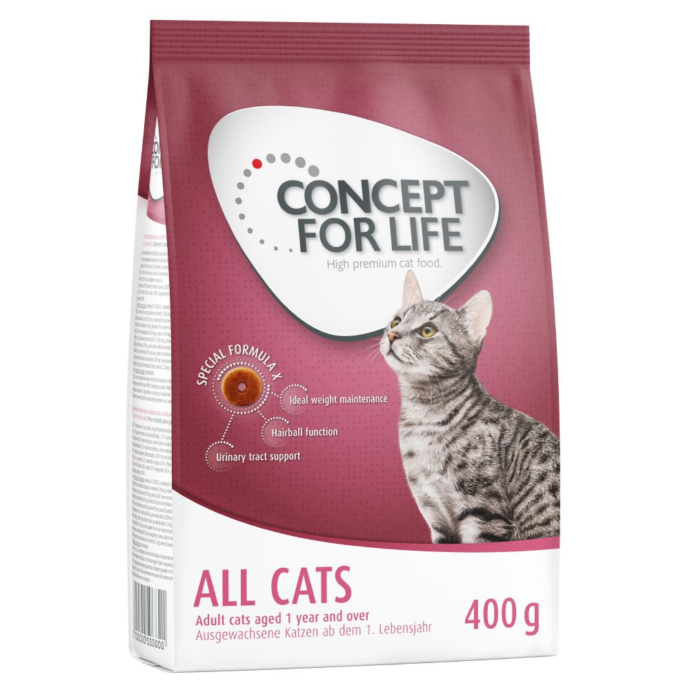 400g Concept for Life + 6 x 70g Cosma Nature Bundle Offer!* - All Cats 10+ + Cosma Nature
