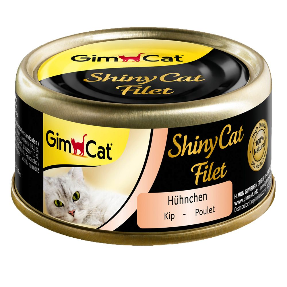 GimCat ShinyCat Filet 6 x 70 g - Kyckling