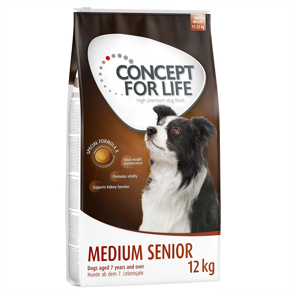 Concept for Life Medium Senior - Economy Pack: 2 x 12kg