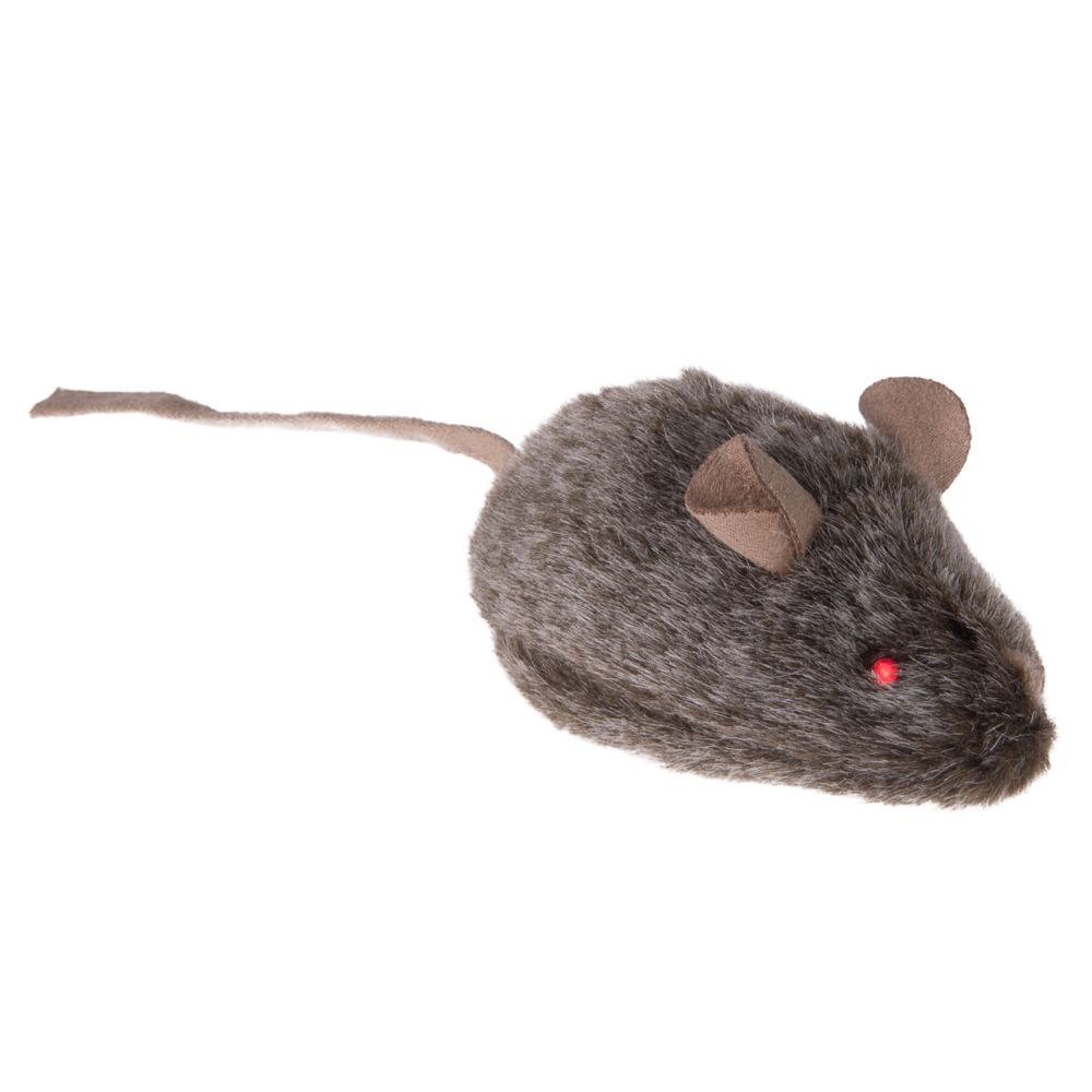 Wild Mouse Cat Toy - Glowing Eyes & Squeak
