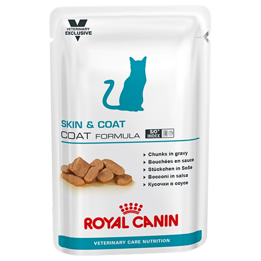 Royal Canin Vet Care Nutrition Cat - Adult Skin & Coat - Saver Pack: 48 x 100g