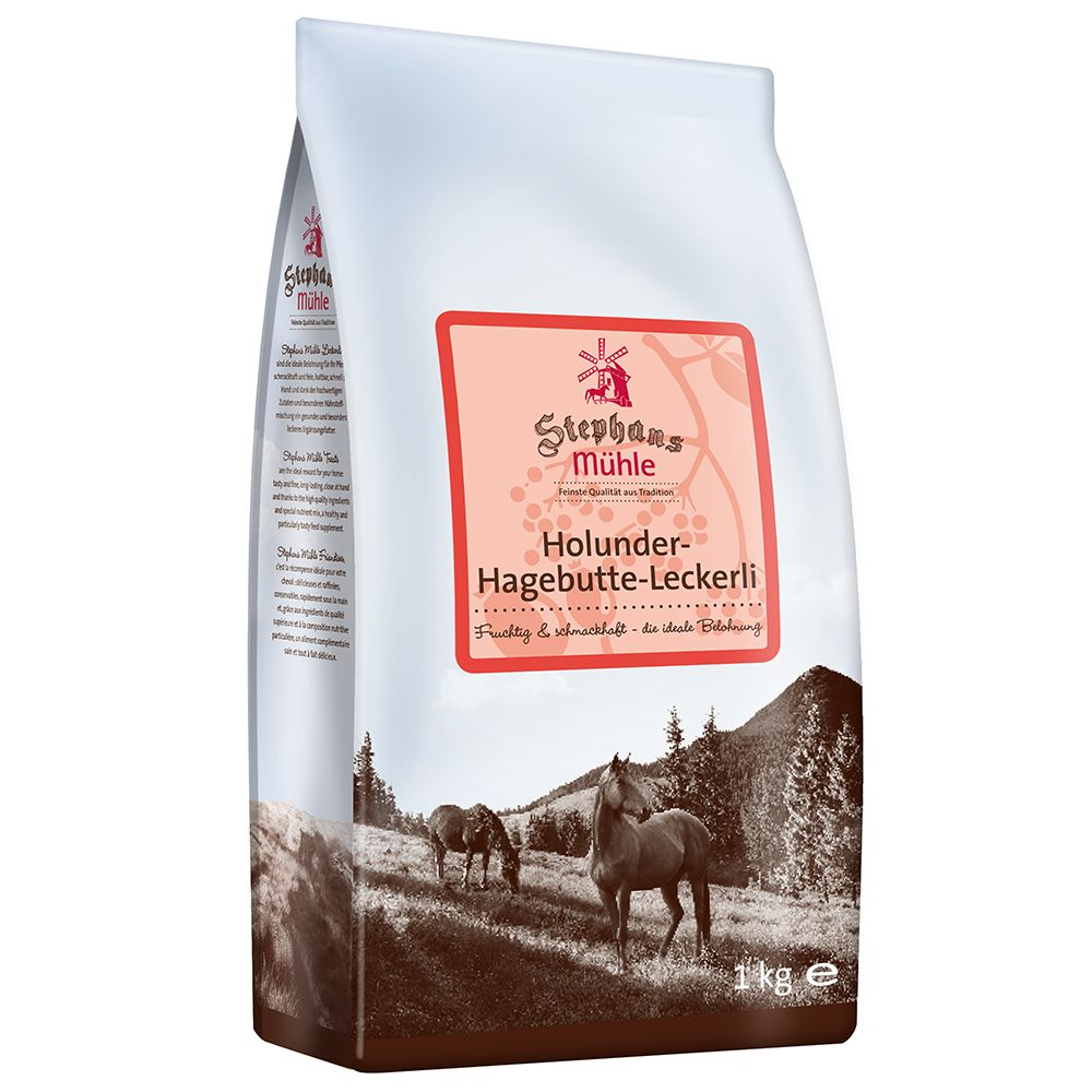 Stephans Mühle Horse Treats - Elderberry Rosehip - Saver Pack: 3 x 1kg