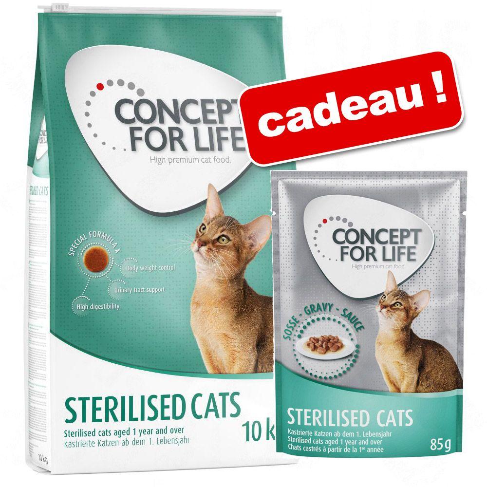 9kg Persian Adult Concept for Life Croquettes + 12x85g Beauty en sauce sachets offerts !