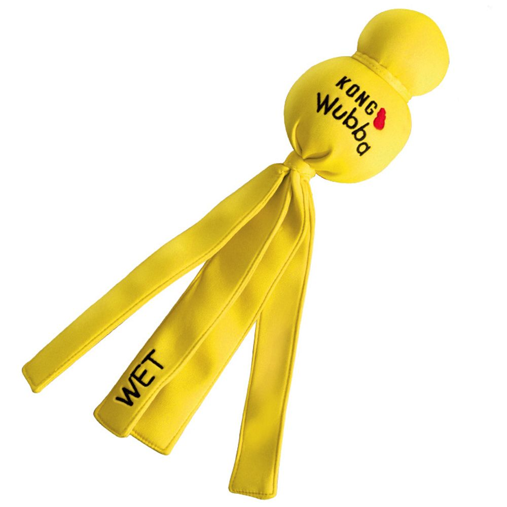 Large 35.5x9cm (LxW) KONG Wet Wubba Dog Toy