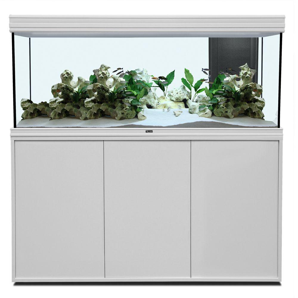 Aquatlantis Fusion 150 LED Ensemble aquarium/sous-meuble – aspect chêne Zooplus FR