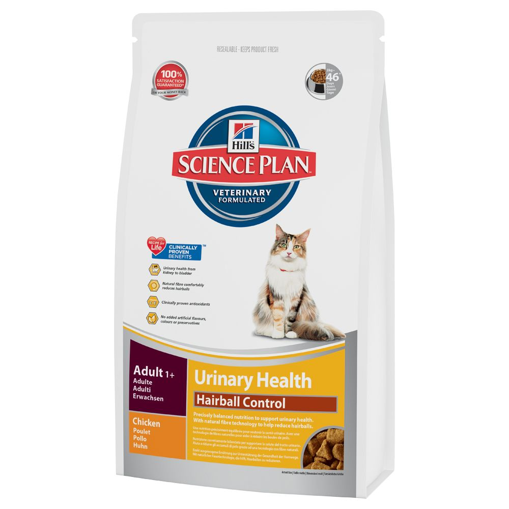 Hill's Science Plan Adult Urinary & Hairball - Chicken - 1.5kg