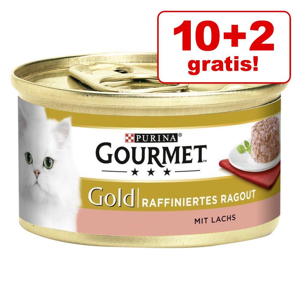 10 + 2 gratis! 12 x 85 g Gourmet Gold - Raffiniertes Ragout: Huhn