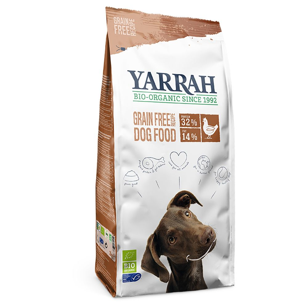 Yarrah Organic Grain Free hundfoder spannmålsfritt - Ekonomipack: 2 x 10 kg