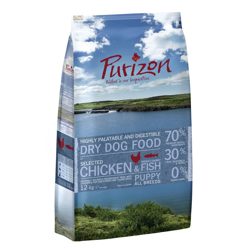 Purizon Dry Dog Food Economy Packs 2 x 12kg - Puppy: Chicken & Fish (2x12kg)