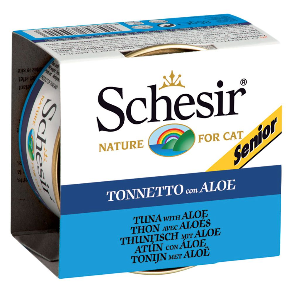 Schesir Senior in Jelly 6 x 85g - Tuna with Aloe