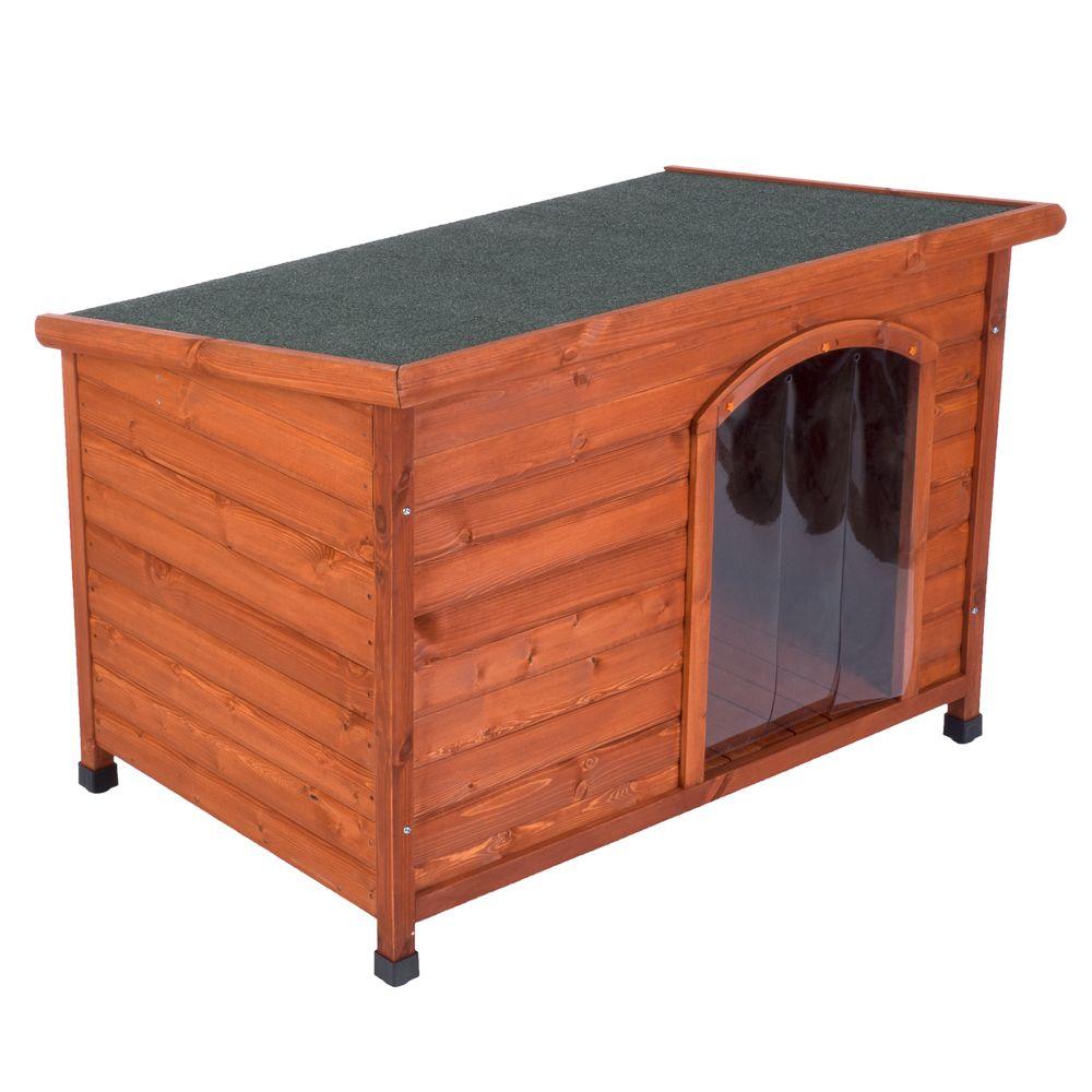 Woody Premium Flat-Roofed Dog Kennel - Size S: 85 x 57 x 58 cm (L x W x H)
