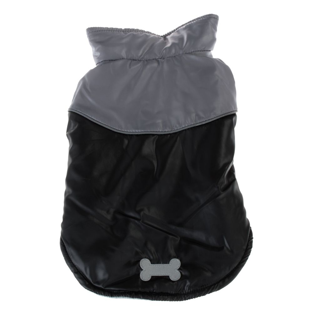 Bones Dog Coat – Black - approx. 60cm Back Length (Size 4XL)
