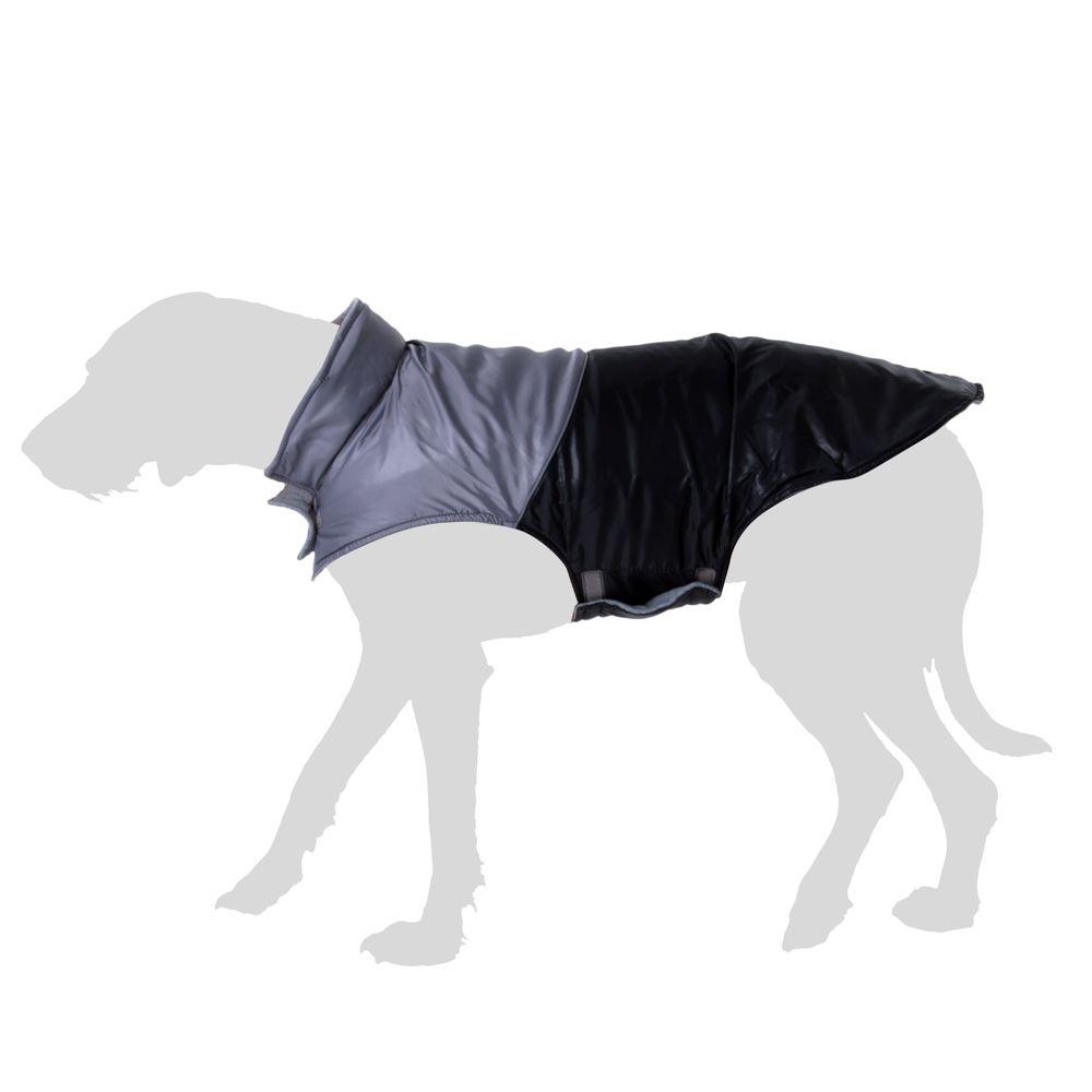 Manteau Bones, noir pour chien - longueur du dos : 70 cm environ (taille 5XL)
