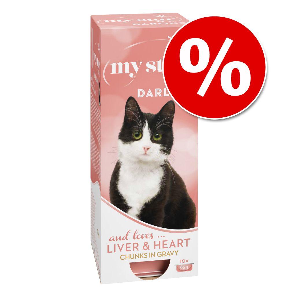 Kanonpris! 60 x 85 g / 90 g My Star våtfoder för endast 289 kr! -Mousse Diva - Chicken Liver 60 x 90 g
