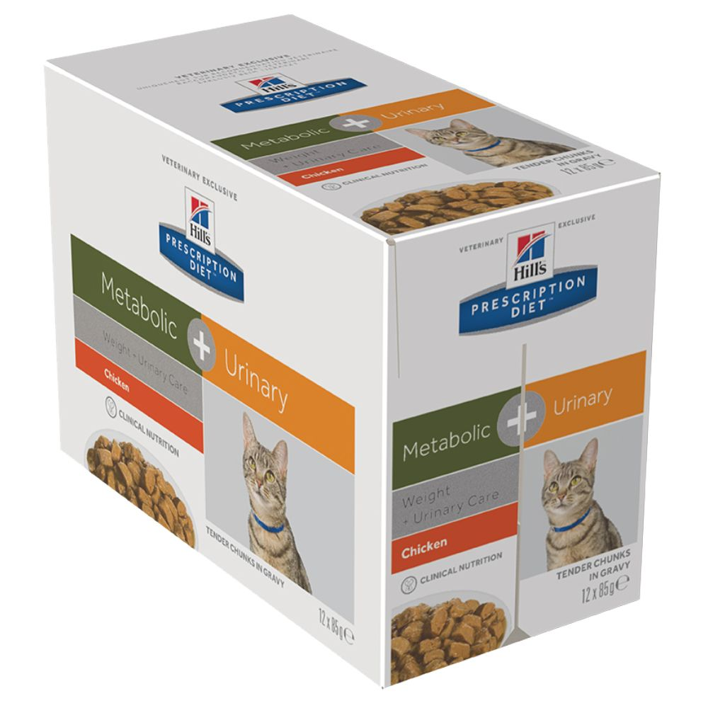 Hill's Prescription Diet Feline - Metabolic + Urinary - 12 x 85g pouches