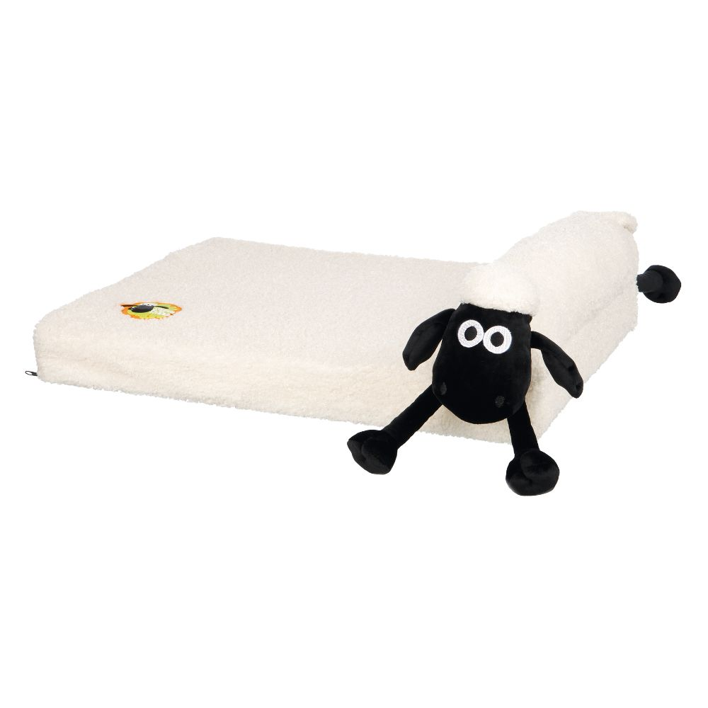 Trixie Shaun the Sheep Dog Sofa - Cream - 60 × 40 x 20 cm (L x W x H)
