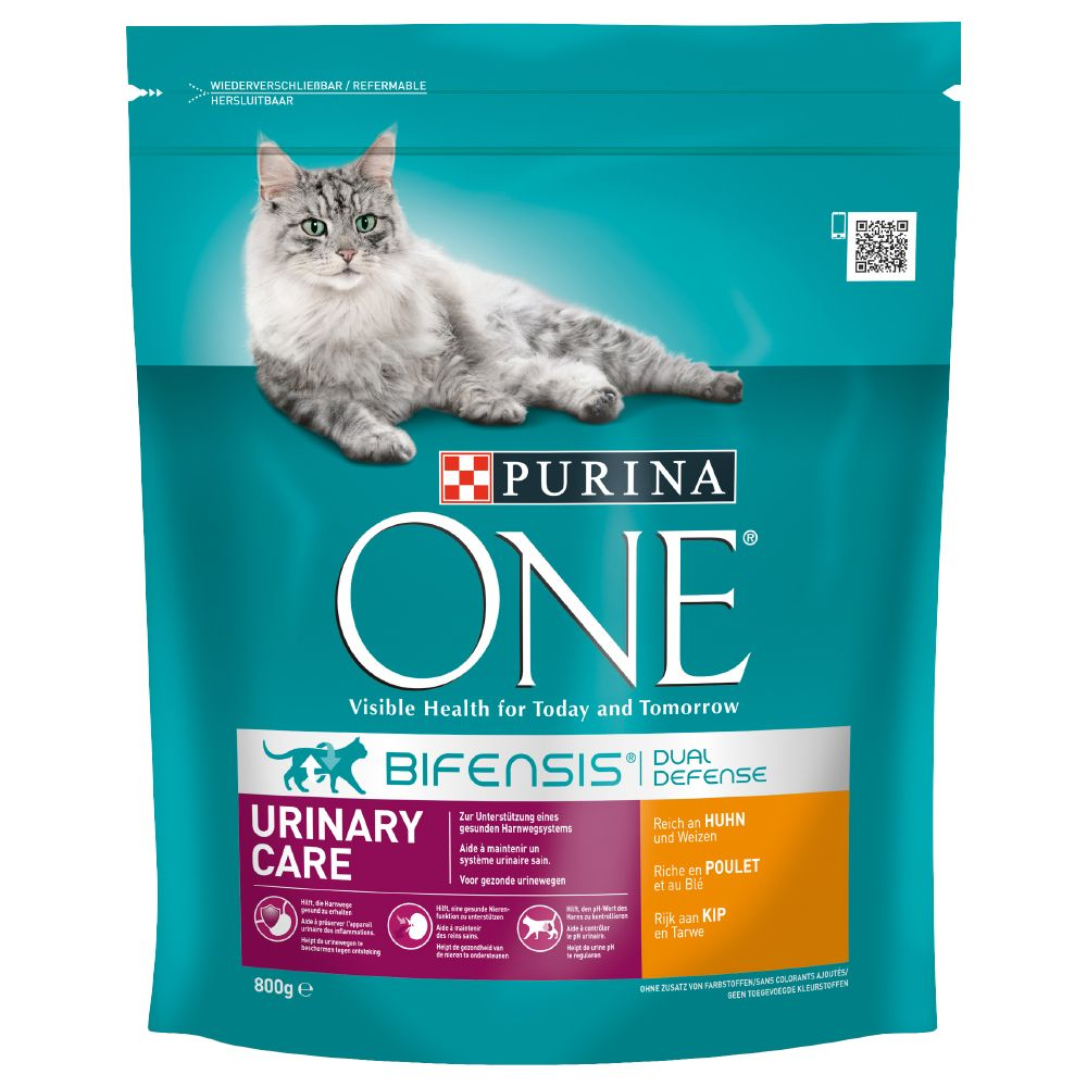 INOpets.com Anything for Pets Parents & Their Pets Purina ONE Urinary Care Chicken & Wheat Dry Cat Food - 800g
