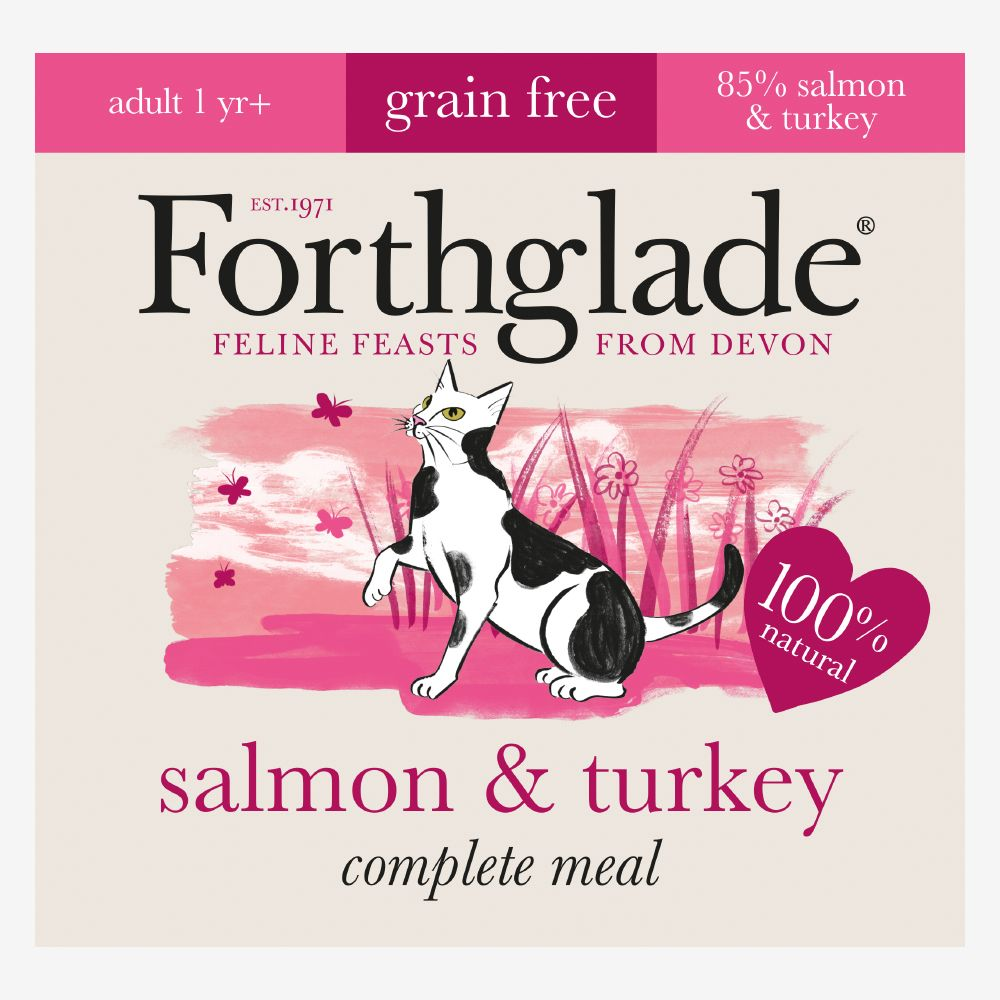 Forthglade Complete Meal Grain-Free Adult Cat - Salmon & Turkey - 12 x 90g