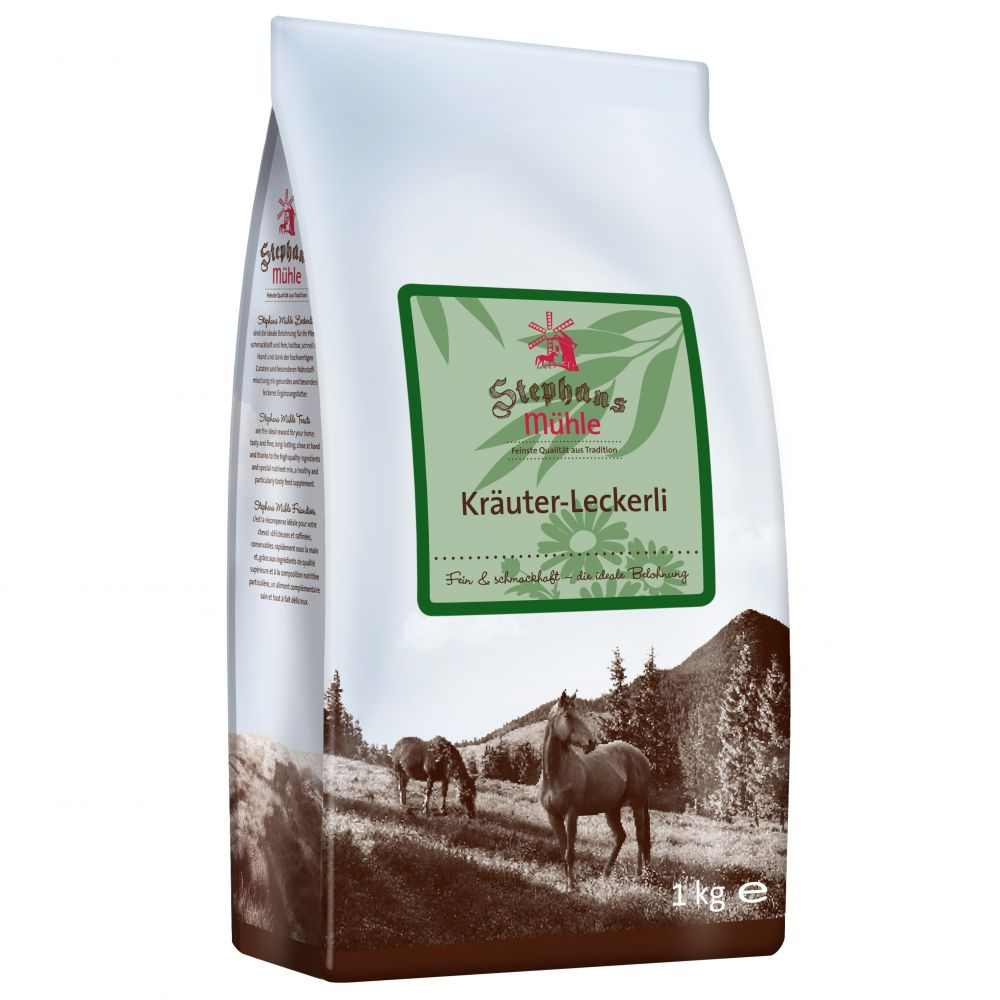 Stephans Mühle Horse Treats - Herbs - Saver Pack: 3 x 1kg