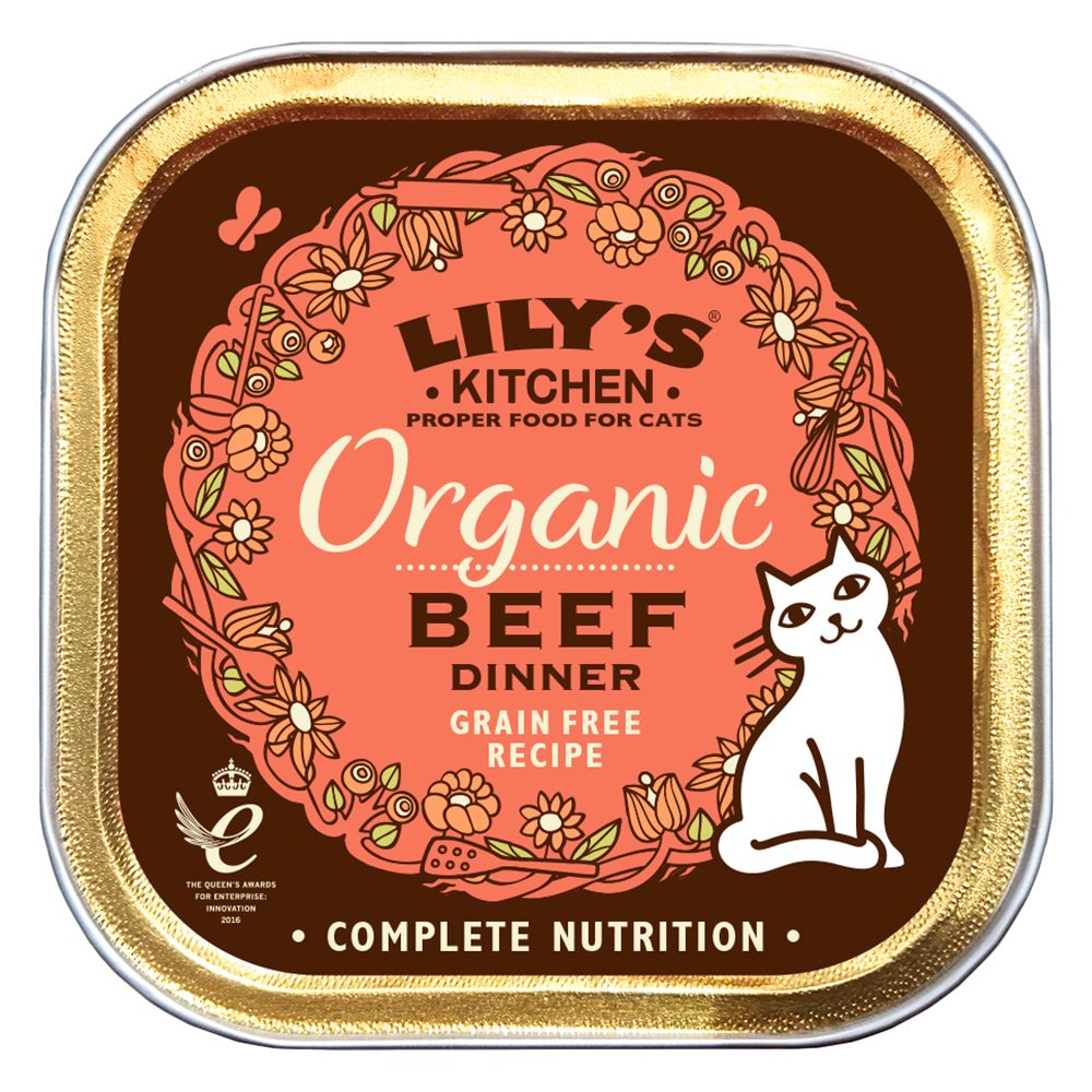 Lily's Kitchen Organic Beef Dinner for Cats - Saver Pack: 38 x 85g