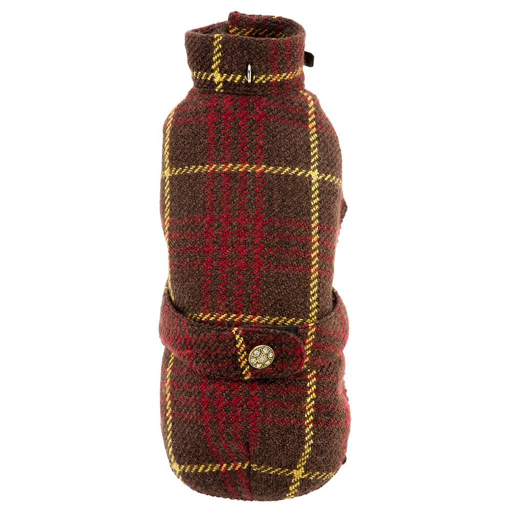 The Ferplast Cambridge Dog Coat is devoted to the English tradition. It has an outer layer of wool which resembles the colour and pattern of tweed, so you can clot...