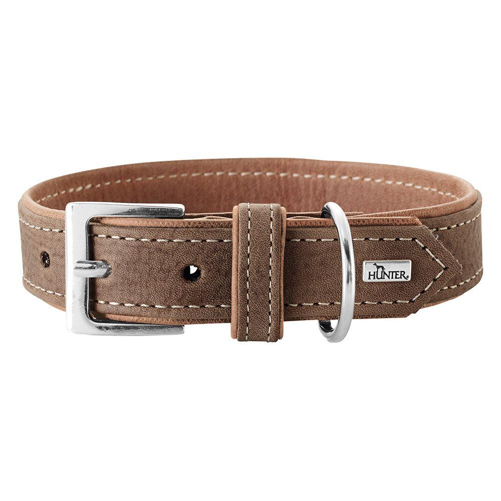 Hunter Porto Organic Leather Dog Collar – Light Brown - Size 50