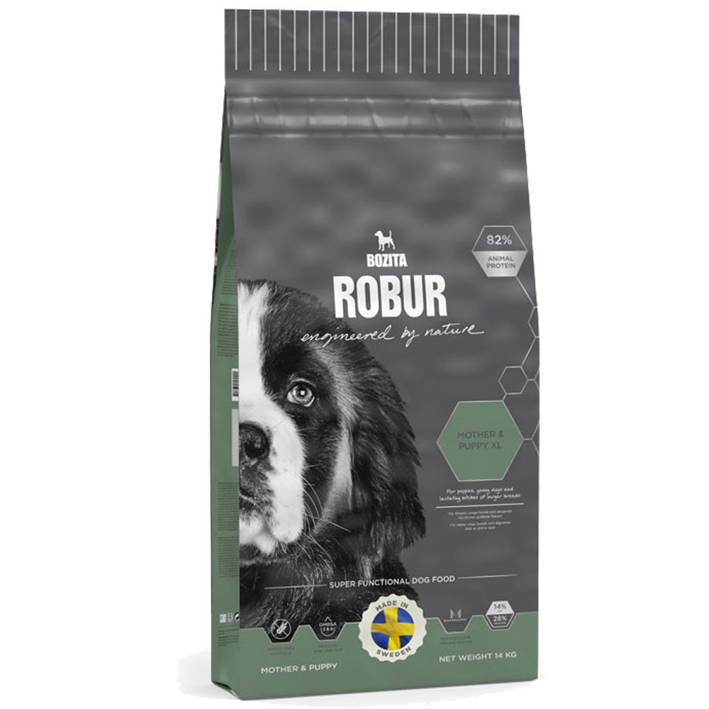 Bozita Robur Breeder & Puppy XL 30/14 Dog Food is specifically matched to the nutritional requirements of puppies and young dogs of large breeds in order to cr...