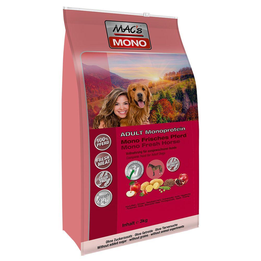MAC's Mono Häst hundfoder – 3 kg