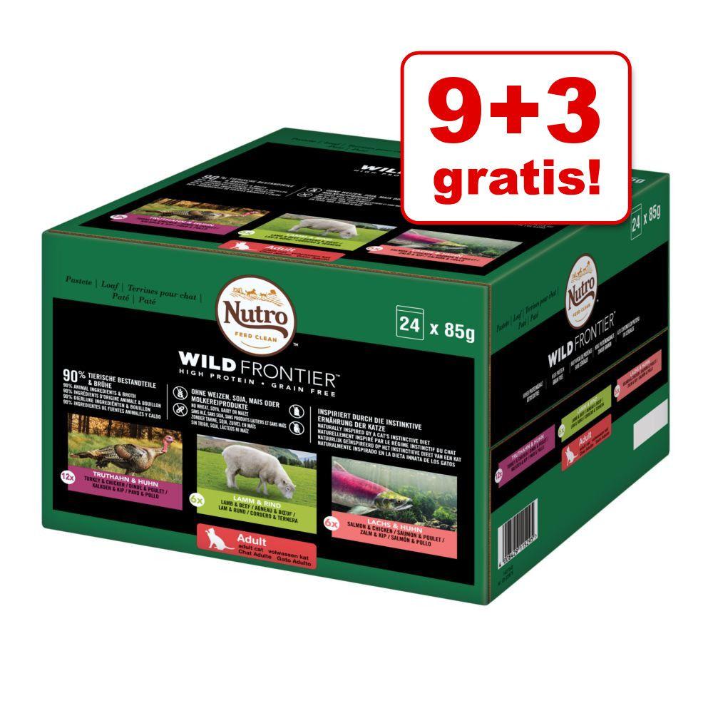 9 + 3 gratis! Pakiet mieszany Nutro Wild Frontier, 12 x 85 g 12 x 85 g