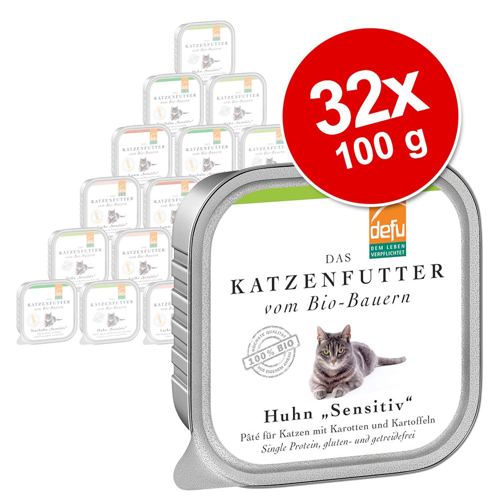 Defu Katze Pate Sensitive 32 x 100 g - Lachs