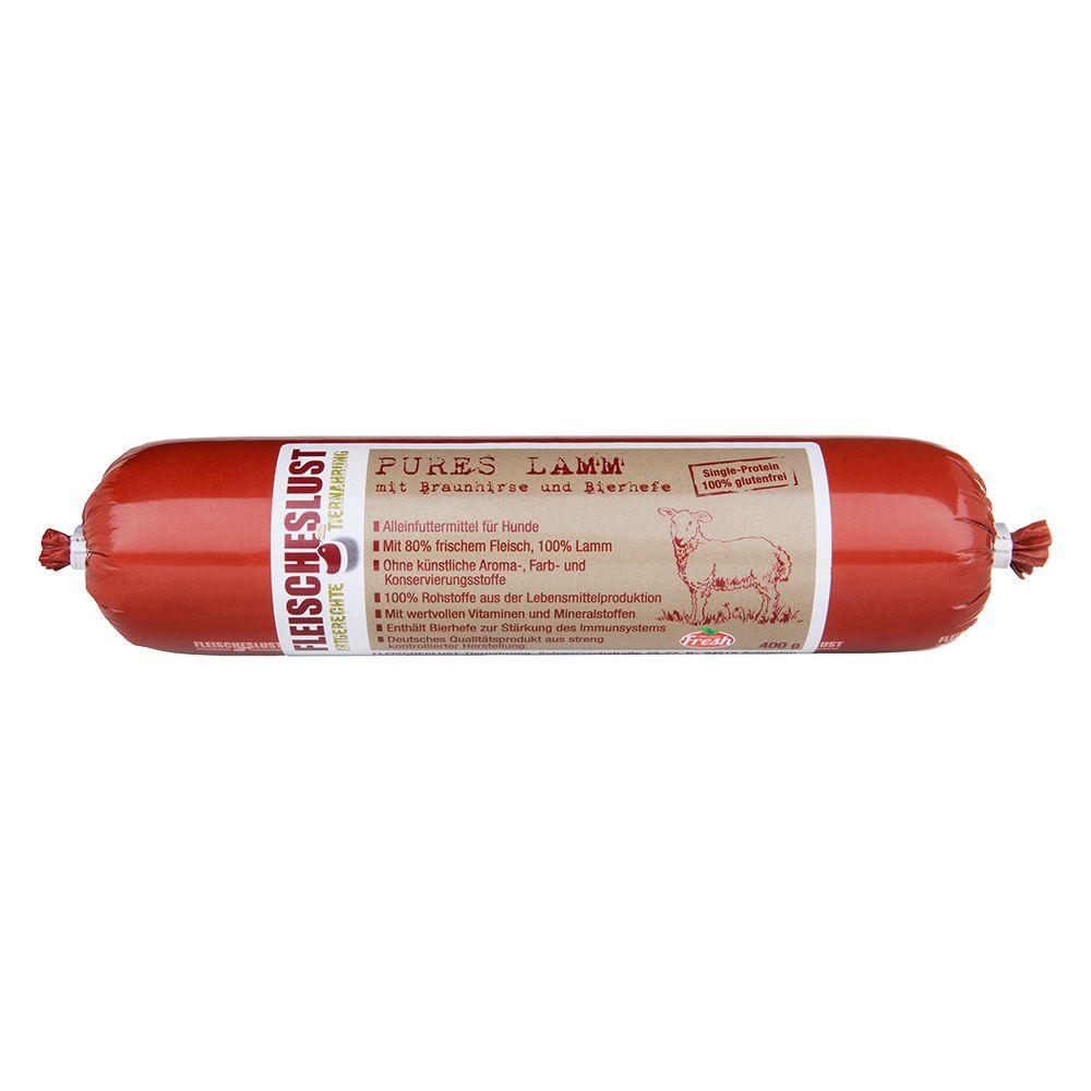 Fleischeslust Singleprotein 6 x 400 g - Lamm un...