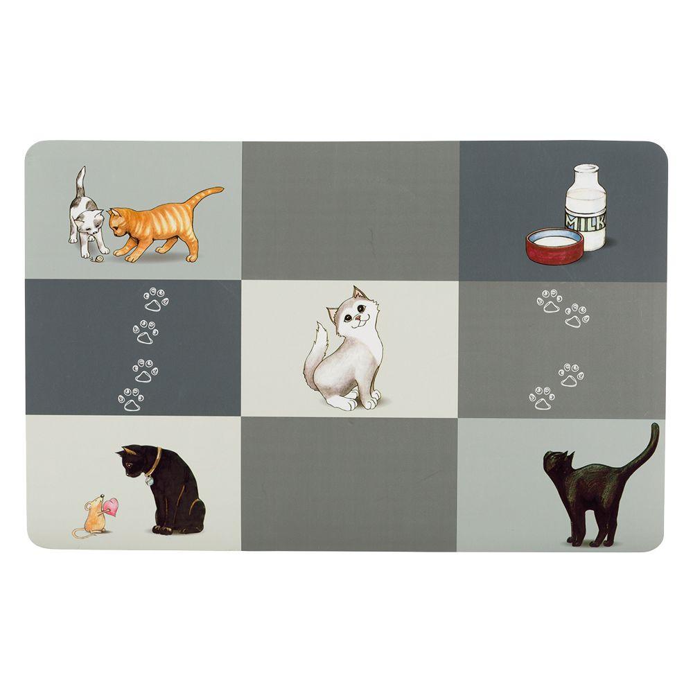 Trixie Patchwork Cat Napfunterlage - L 44 × B 28 cm
