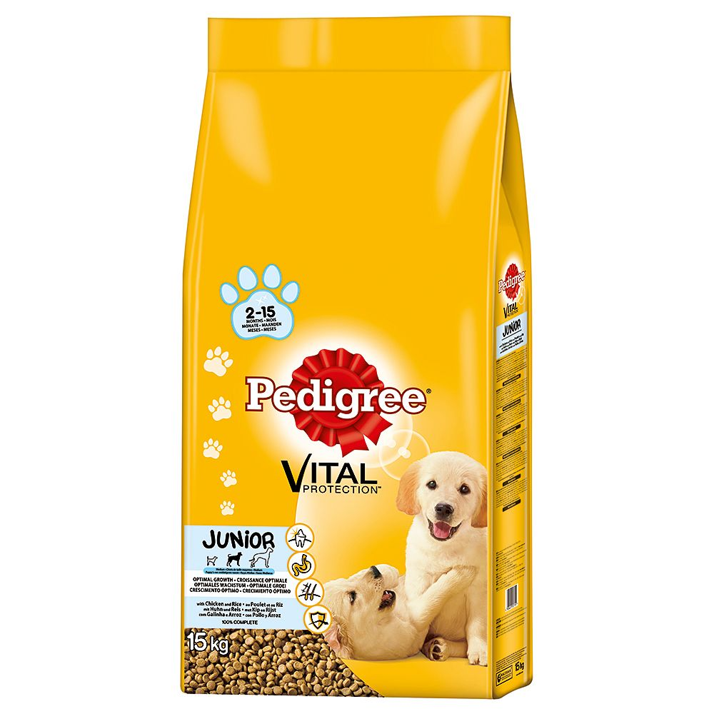 Pedigree Junior Medium Chicken Complete Vital Protection Dry Dog Food