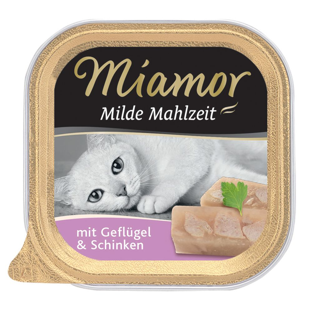 Miamor Mild Meal 6 x 100g - With Chicken & Salmon