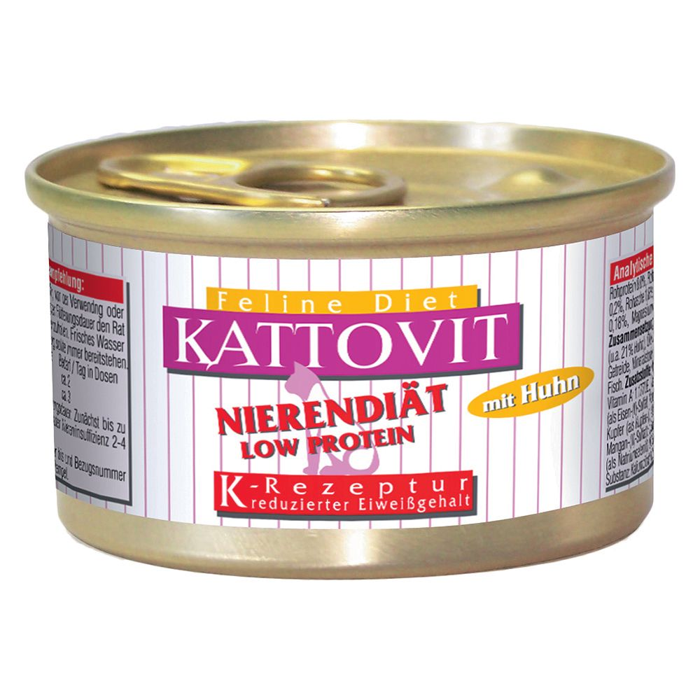 Kattovit Saver Pack 12 x 85g - Kidney/Renal (Renal Failure) Lamb