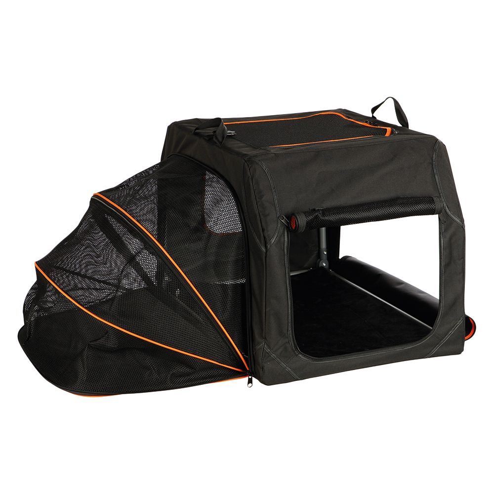 Whether you're at home, on holiday or in the car, the Trixie Extend Transport Box is a comfortable retreat for your four-legged friend. Made of durable polyester w...