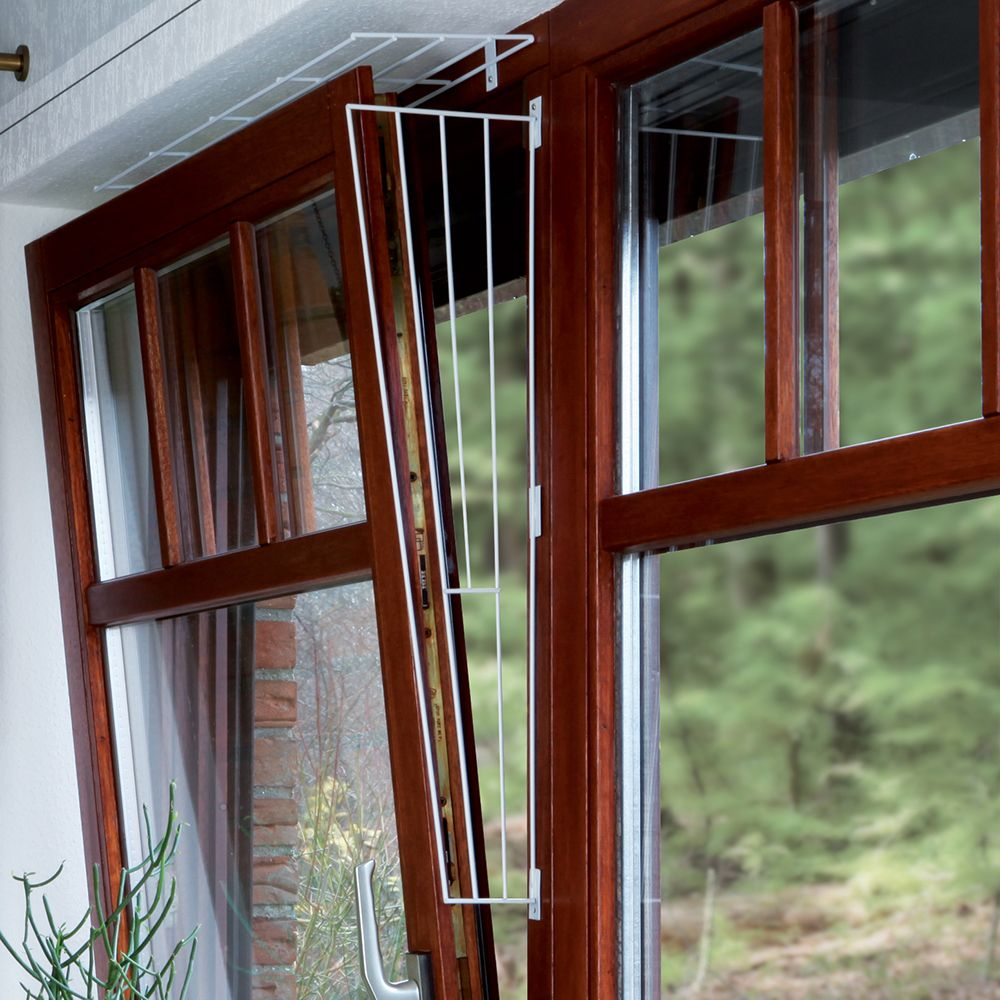 Trixie Protective Fencing for Tilting Windows, White - Format 2: Top or Bottom of Window