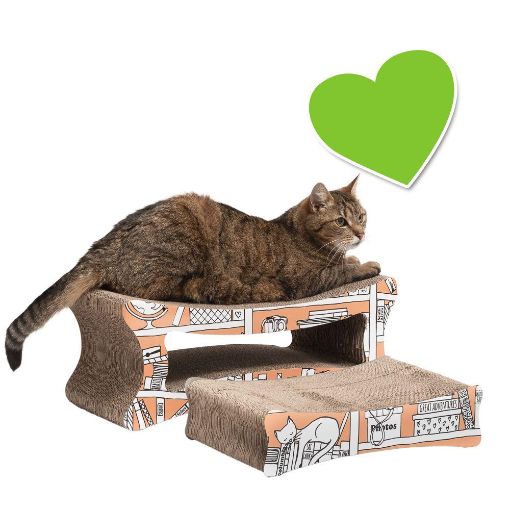 zoolove 2w1 drapak dla kota - Dł. x szer. x wys.: 50 x 22 x 20 cm