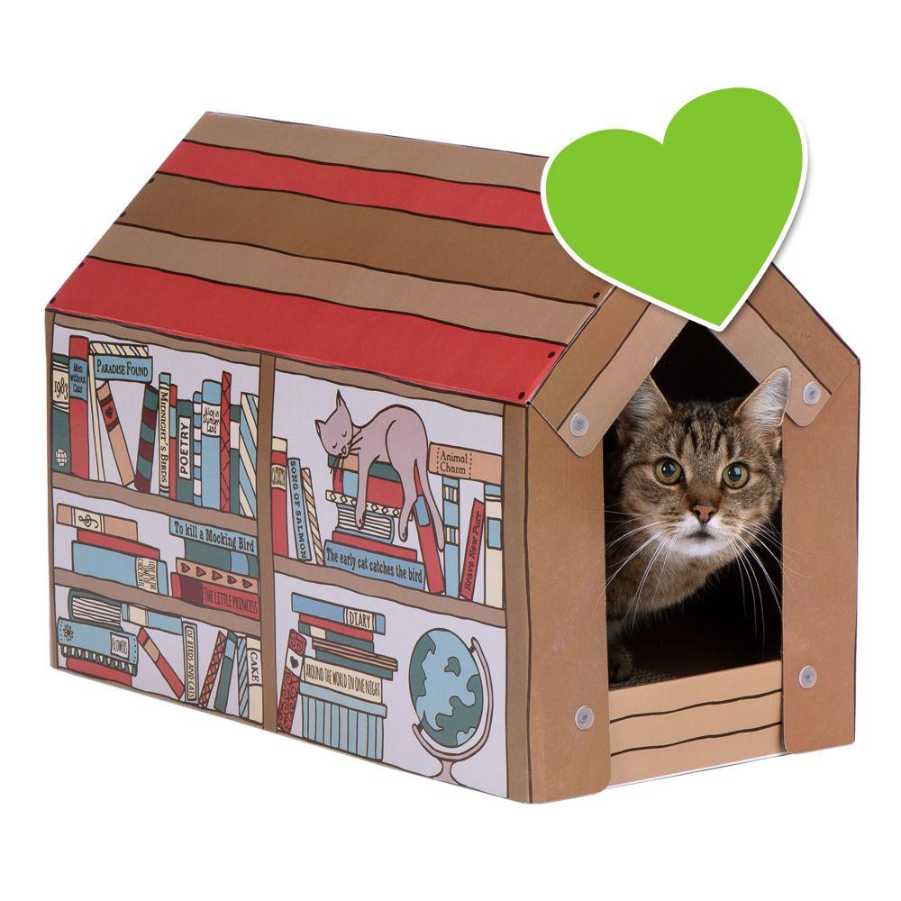 zoolove Home katthus med klösbräda L 50 x B 26 x H 36 cm