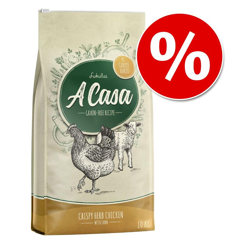 10€ Rabatt! 10 kg Lukullus A Casa Knuspriges Huhn mit Kräutern - 10 kg