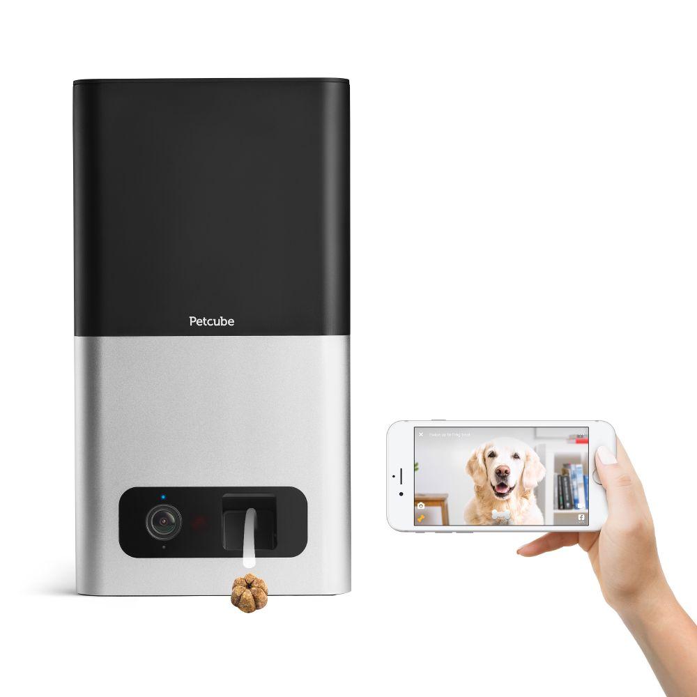 Caméra Wi-Fi Petcube Bites avec distributeur de friandises – L 7,85 x l 18,3 x H 32,75 cm Zooplus FR